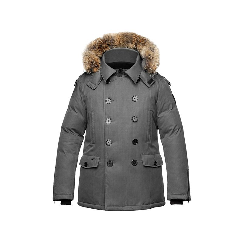 male parka jacket apparel product photography